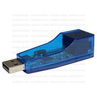 Адаптор ETHERNET USB 2.0 (шт.USB - гн.8Р8С), прозрачный