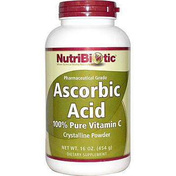 NutriBiotic, Аскорбиновая кислота, кристаллический порошок, 16 унций (454 г)