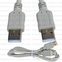 Шнур USB, штекер A - штекер А, Vers- 2.0, Ø4.5мм, 1м