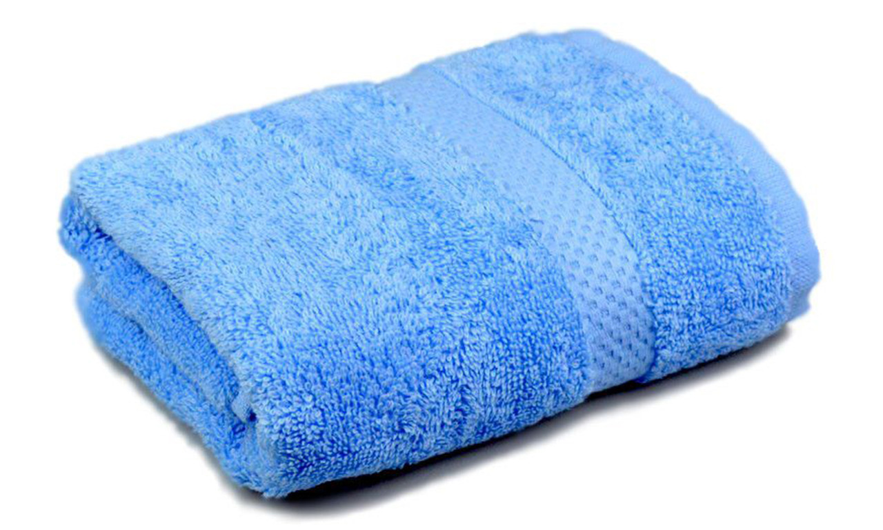 Полотенце махровое, бордюр, 70х140, цвет: голубой