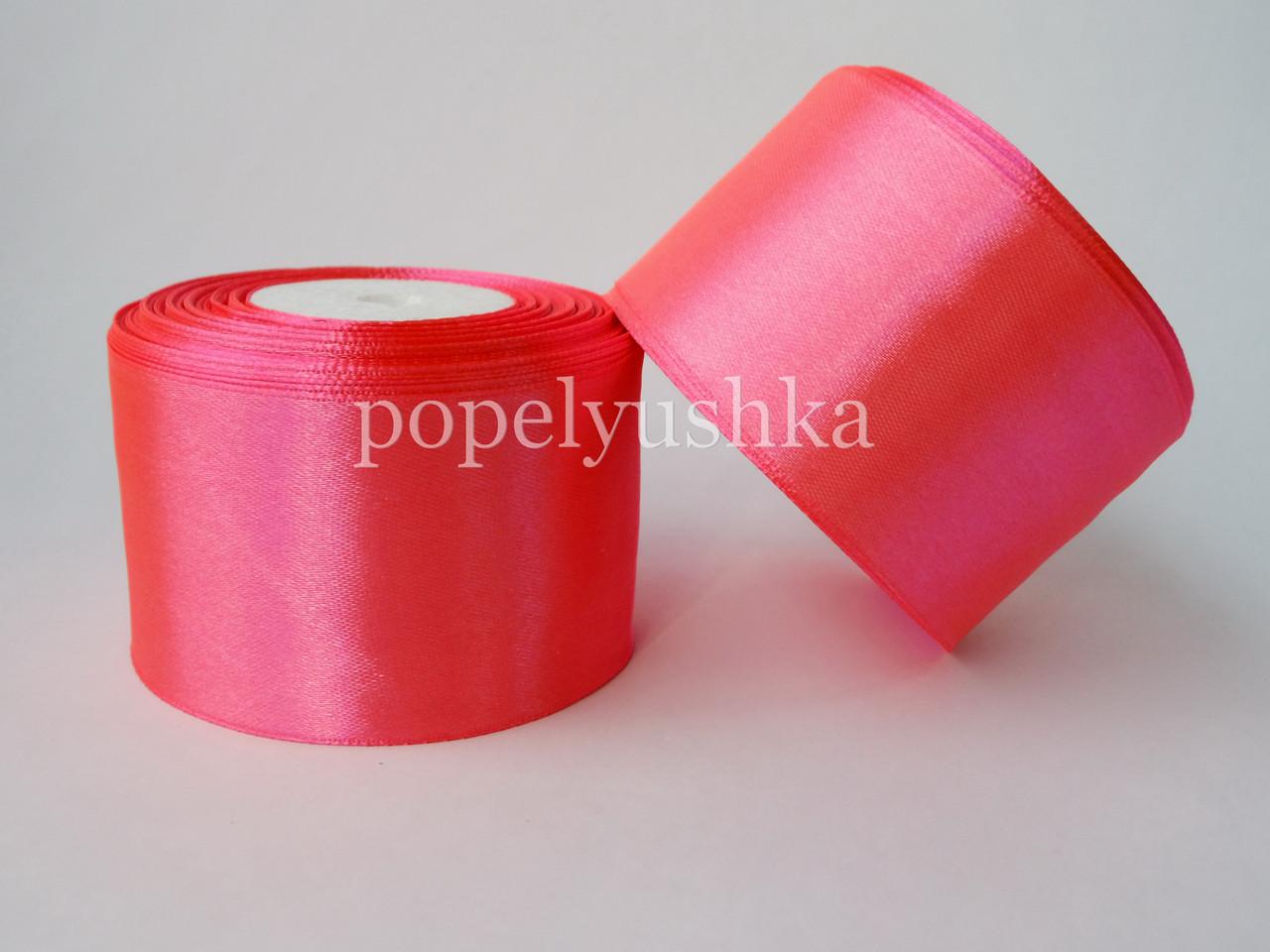 Cтрічка атласна 5см насичено-рожева
