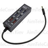 USB-Hub на 6 портов iETOP, USB3.0, чёрный