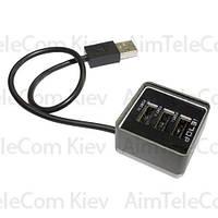 USB-Hub на 3 порта iETOP, USB2.0, черный