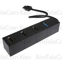 USB-Hub на 4 порта iETOP, USB3.0/2.0, чёрный