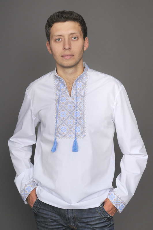Мужская вышитая сорочка М19-1112, фото 1