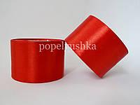 Стрічка атласна 5 см червона