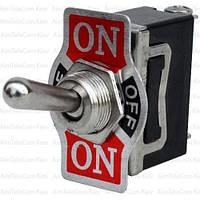 Тумблер KN3(С)-103A (ON-OFF-ON), 3pin, 10А, 250VAC (KN3(C)-103AP)