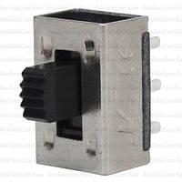 Переключатель движковый KBB45-2P2W ON-ON, 6pin, 0.5A, 250VAC, 1уп.-10шт