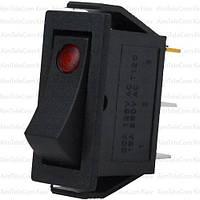 Переключатель узкий с подсветкой IRS-101E-1C ON-OFF, 3pin, 15A, 220V, красный