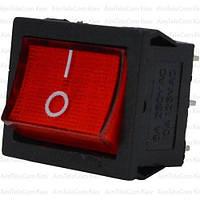 Переключатель широкий с подсветкой MIRS-202-4 ON-ON, 6pin, 6A, 220V, красный