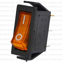 Переключатель с подсветкой узкий IRS-101-1С (ON-OFF), 3pin, 15A, жёлтый