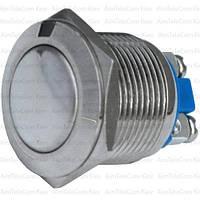 Кнопка антивандальная PBS-28B без фиксации OFF-ON 19мм, 2-х контактная, 220V, под винт (выпуклая), OFF-ON