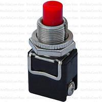 Кнопка PBS-13B без фиксации OFF-(ON), 2-х контактный, 4А, 250V, красная