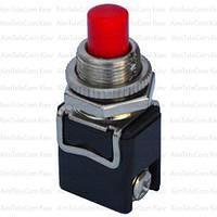 Кнопка PBS-13C без фиксации ON-(OFF), 2-х контактный, 4А, 250V, красная