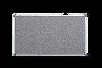 Доска текстильная, в алюминиевой рамке S-line – 1800x1000 мм; код – 151018 (серая), фото 1