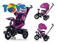 Велосипед трехколесный с усиленной рамой TILLY CAYMAN, с пультом, фиолетовый лен, T-3812 Фиолетовый