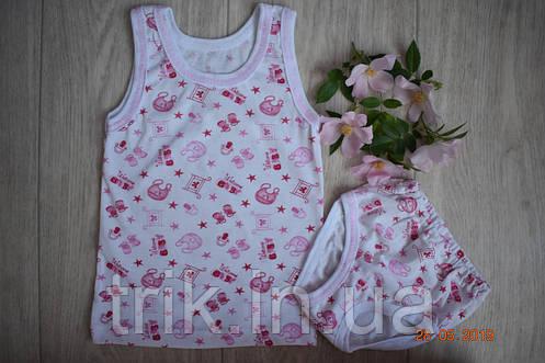 Комплект нижнего белья для девочки хлопок рисунок слюнявчики, фото 2