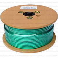 Кабель микрофонный Sound Stream 2 жилы, 38×0.10мм, Cu, Ø6мм, прозрачно-зеленый,100м