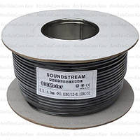 Кабель микрофонный моно Sound Stream 1 жила, 12×0.12мм, Cu, Ø4мм, чёрный, 100м