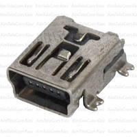 Гнездо mini USB 5pin, монтажное, тип SMT