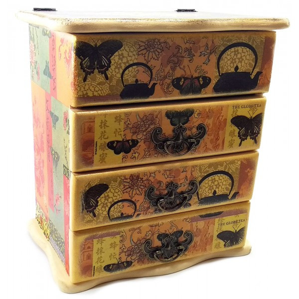 Шкатулка-комод для хранения Китайский мотив