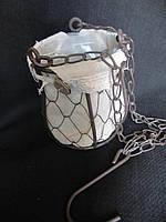 Кашпо металическое подвесное (65/60) (цена за 1 шт. + 5 грн.), фото 1