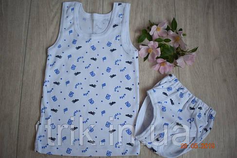 Комплект нижнего белья для мальчика хлопок полотно Рибана, фото 2