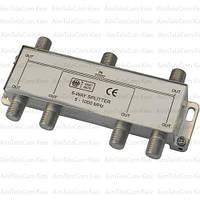 Сплиттер (Splitter) ТВ, 6-way 5-1000MHZ, корпус металлический