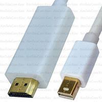 """Шнур, штекер HDMI - штекер mini Display Port, """"позолоченный"""", 1.5м"""