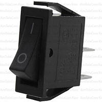 Переключатель узкий KCD3-006 ON-OFF, 2pin, 220V, чёрный
