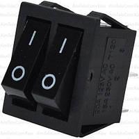 Переключатель двойной без подсветки IRS-2101-1А ON-OFF, 4pin, 15A, 220V, чёрный