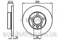 Диск тормозной передний Bosch 0 986 478 870