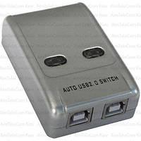 Разветвитель MT-VIKI USB A  Свич (switch) на 2 гнезда USB B (MT-SW221)