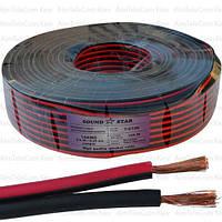 Кабель питания Sound Star, Cu, 2х1,3мм², красно-чёрный, 100м