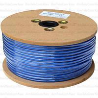 Кабель микрофонный Sound Stream 2 жилы, 40×0.10мм, Cu, Ø6.5мм, синий, 100м