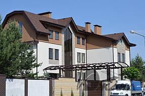 Частный дом в пос. Кировское Днепропетровской области. Металлоконструкции и битумная черепица 1