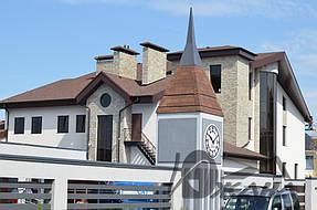Частный дом в пос. Кировское Днепропетровской области. Металлоконструкции и битумная черепица 2