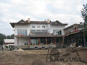 Частный дом в пос. Кировское Днепропетровской области. Металлоконструкции и битумная черепица 5