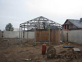 Частный дом в пос. Кировское Днепропетровской области. Металлоконструкции и битумная черепица 8