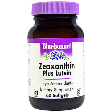 Bluebonnet Nutrition, Зеаксантин плюс лютеин, 60 мягких желатиновых капсул