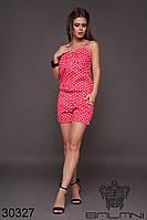 Комбинезон женский с шортами в красный горох