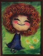 """Картина из шерсти """"Рыжее настроение"""""""