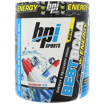 BPI Sports, Лучшие аминокислоты с разветвлённой цепью с запасом энергии, Радужный лед, 8,8 унции (250 г)