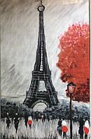 """Картина из шерсти """"Воспоминания о Париже"""""""