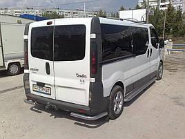 Задние уголки AK003 (нерж) - Nissan Primastar 2002-2014 гг.