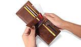 Чоловічий гаманець портмоне Primo PJ002 - Brown, фото 3