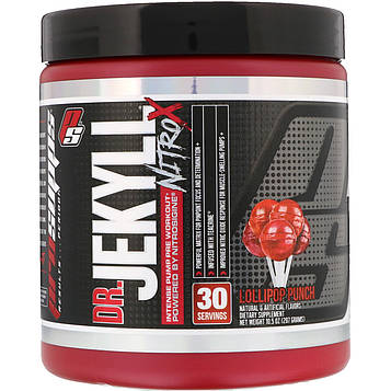 ProSupps, DR. JEKYLL NITRO X, Pre Workout,  Lollipop Punch, 10.5 oz (297 g)
