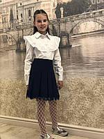 Школьная Блузка (Валан длинный рукав ,хлопок)19, фото 1