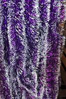 Мишура фиолетовый (белый кончик), длина 1.5м, диаметр 100мм Харьков., фото 1