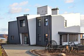 Частный дом в с. Волосское Днепропетровской обл. Фасады и кровля в фальцевом исполнении 3